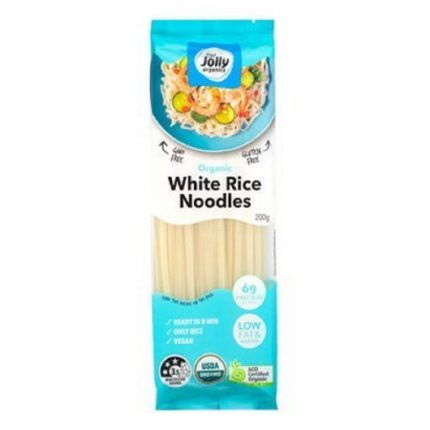 Jolly Organic White Rice Noodles 200g Front