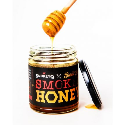 Smokey Q Burnt Bees Smoked Honey 300g Front