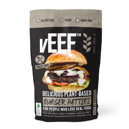 Veef Smoked BBQ Plant Based Burger - Vegan 226g Front