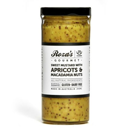 Rozas Sweet Mustard with Apricots & Macadamia Nuts 240ml