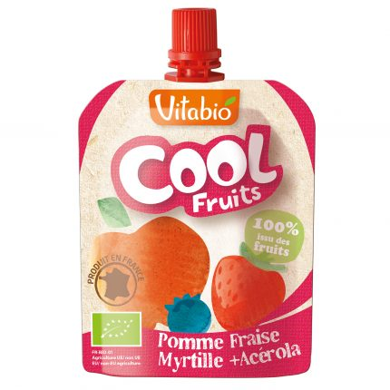 Vitabio Cool Fruits Apple-Strawberry-Blueberry Organic Smoothie