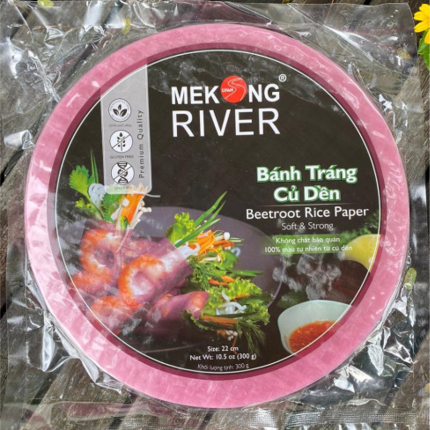 Mekong River Rice Paper 22cm (Beetroot)  300g