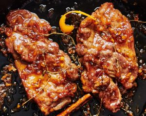 Maple-Habanero Glazed Pork Steaks